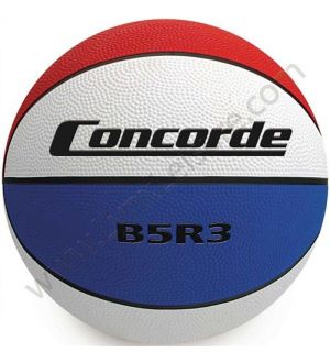 Tri-colored Rubber Game Basketball