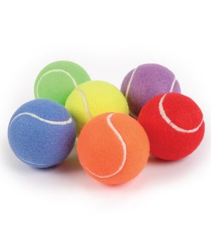 Rainbow Tennis Ball Set of 6
